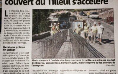 Info Travaux Juillet: Parking du Tilleul dans sa dernière ligne droite