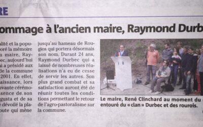 Hommage à Raymond Durbec