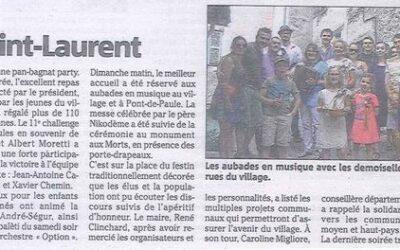 Revue de Presse Nice-Matin: Saint Laurent 2015